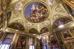 Interiores de Palazzo Pitti, Florencia, Italia Imágenes de archivo libres de regalías
