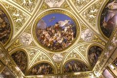 Interiores de Palazzo Pitti, Florencia, Italia Fotos de archivo libres de regalías