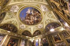Interiores de Palazzo Pitti, Florencia, Italia Foto de archivo libre de regalías