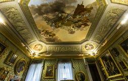 Interiores de Palazzo Pitti, Florencia, Italia Imagen de archivo libre de regalías