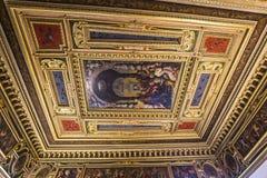 Interiores de Palazzo Vecchio, Florença, Itália Imagem de Stock