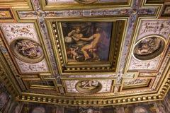 Interiores de Palazzo Vecchio, Florença, Itália Fotografia de Stock