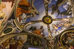 Interiores de Palazzo Vecchio, Florencia, Italia Foto de archivo libre de regalías