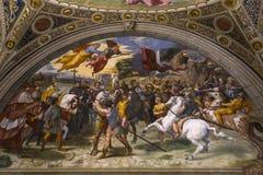 Interiores de salas de Raphael, museu do Vaticano, Vaticano Imagens de Stock