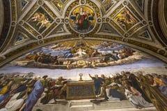 Interiores de salas de Raphael, museu do Vaticano, Vaticano Imagem de Stock