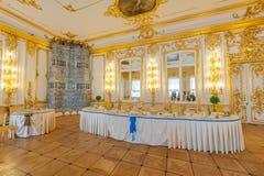 Interiores de Tsarskoe Selo Imagem de Stock