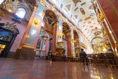Interiores del monasterio de Jasna Gora en Czestochowa Fotos de archivo
