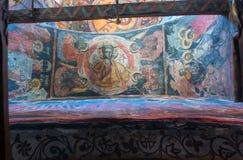 Interiores del monasterio de la trinidad santa en Meteora fotografía de archivo
