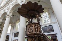 Interiores del santo Walburga Church, Brujas, Belgique, Foto de archivo libre de regalías