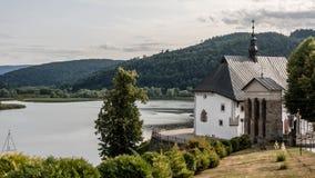 Interiores do castelo e fora no Polônia Imagens de Stock