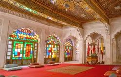 Interiores do forte de Mehrangarh fotos de stock
