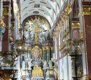 Interiores do monastério de Jasna Gora em Czestochowa Imagens de Stock Royalty Free