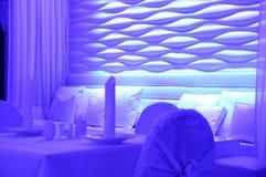 Interiores do restaurante Imagens de Stock Royalty Free