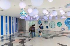 Interiores do 60th assoalho do arranha-céus da cidade da luz do sol Imagem de Stock Royalty Free