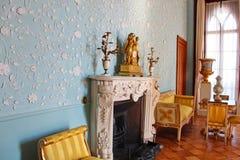 Interiores dos salões no palácio de Vorontsov em Alupka, Crimeia Imagem de Stock