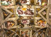 Interiores e detalhes da capela de Sistine, Cidade do Vaticano Foto de Stock Royalty Free