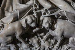 Interiores e detalhes de basílica de St Denis, França Foto de Stock Royalty Free