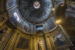 Interiores e detalhes de catedral de Siena, Siena, Itália Imagens de Stock Royalty Free