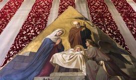 Interiores e detalhes de catedral de Siena, Siena, Itália Foto de Stock Royalty Free