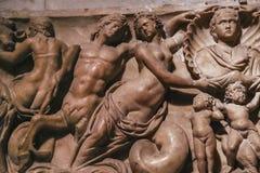 Interiores e detalhes de catedral de Siena, Siena, Itália Fotos de Stock