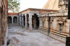 Interiores jain del templo de Narthamalai Foto de archivo