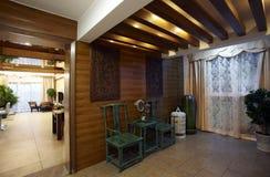 Interiores novos da HOME do estilo chinês imagens de stock royalty free