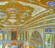 Interiores persas tradicionais da casa de Qavam, Shiraz, Irã Foto de Stock