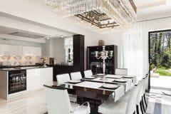 Interiores, sala de jantar luxuosa Fotografia de Stock