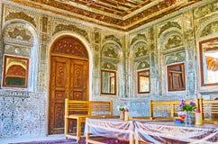 Interiores tradicionales del espejo en Shiraz, Irán fotografía de archivo libre de regalías