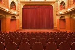 Interiores velhos do cinema imagens de stock royalty free