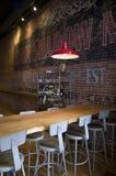 Interiores velhos do mercado do restaurante Foto de Stock Royalty Free