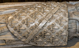 Interiores y detalles de la basílica de St Denis, Francia Fotos de archivo