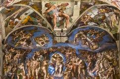 Interiores y detalles de la capilla de Sistine, Ciudad del Vaticano Imagen de archivo