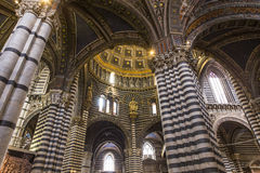 Interiores y detalles de la catedral de Siena, Siena, Italia Foto de archivo libre de regalías