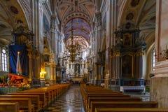 Interiores y detalles de la iglesia del santo Francis Xavier Imagenes de archivo