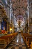 Interiores y detalles de la iglesia del santo Francis Xavier Imagen de archivo libre de regalías