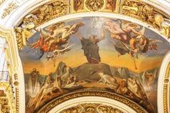 Interiores y imágenes dentro de edificios históricos Pinturas Imagen de archivo libre de regalías