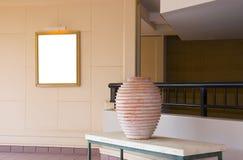 Interiori con gli elementi decorativi Immagine Stock