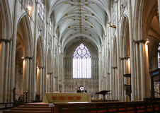 Interiori de la iglesia de monasterio de York - Inglaterra Imagen de archivo