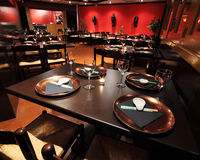 Interiori del ristorante Fotografia Stock Libera da Diritti