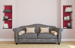 Interiorof living-room. Royalty Free Stock Photo