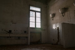 Interiors of an abandoned madhouse Royalty Free Stock Images
