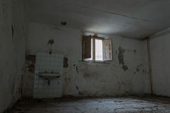 Interiors of an abandoned madhouse Stock Images