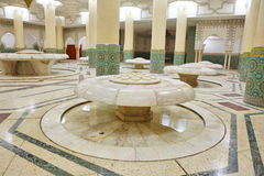 Interiors (ablution hall) of the Mosque. Of Hassan II in Casablanca, Morocco Stock Image