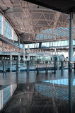 Interiors of an airport building Stock Photo
