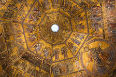 Interiors and architectural details of Baptistery of saint John in Florence, Italy Stock Images