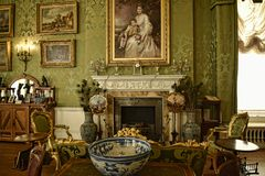 Interiors and art objects at a Beautiful Country House near Leeds West Yorkshire that is not a National Trust Property. Edwardian Country House that has been Stock Photography