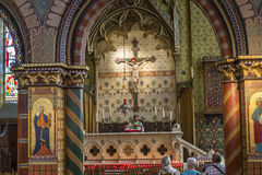 Interiors of Basilica of the Holy Blood, bruges, belgium Stock Photos