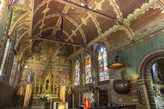 Interiors of Basilica of the Holy Blood, bruges, belgium Stock Photo