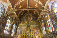 Interiors of Basilica of the Holy Blood, bruges, belgium Royalty Free Stock Photos